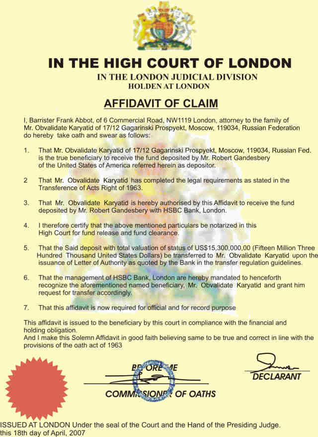 Fine how to write an affidavit uk embellishment administrative sample affidavit for immigration court cool green jobs crooks in action jenson farrago frank abbot altavistaventures Gallery
